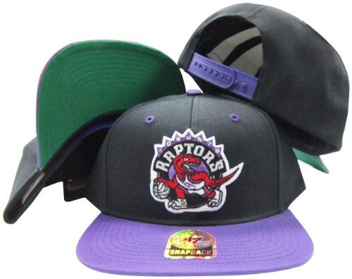 Toronto Raptors Black/Purple Old School Snap Structured Plas