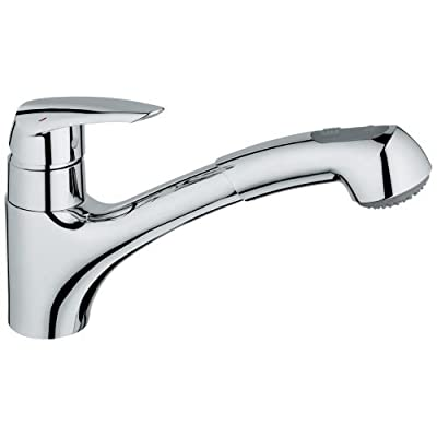 GROHE 33 330 001 Eurodisc Dual Pull-Out Spray Kitchen Faucet
