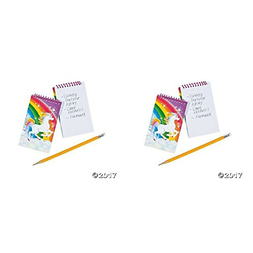 Unicorn Spiral Notepads - 12 ct -