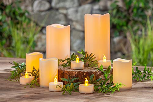 (Gerson 44614 16 PC Candle Assortment Home Decor 4.5InL x 1.5InW x 6.1InH Bisque)