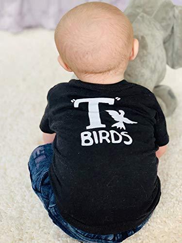 T Birds black tshirt infant toddler child boys shirt Greaser Shirt lightning rocker 1950s movie 6M - 5T sock hop dance music Rockabilly ()
