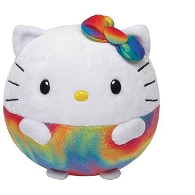 TY Beanie Ballz Hello Kitty arc-en-ciel en peluche