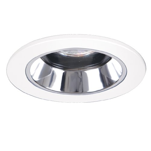 Halo Recessed 1951PS 4-Inch Lensed Showerlight White Trim with Clear Specular Splay Reflector