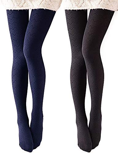 One Size SKU 635 Womans Grey Patterned Tights