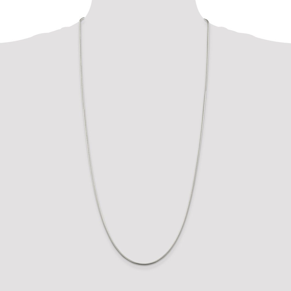 Sterling Silver 1.75mm Round Snake Chain Necklace