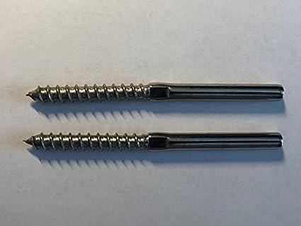 Amazon.com: 2 piezas de acero inoxidable 316 Tornillo de ...