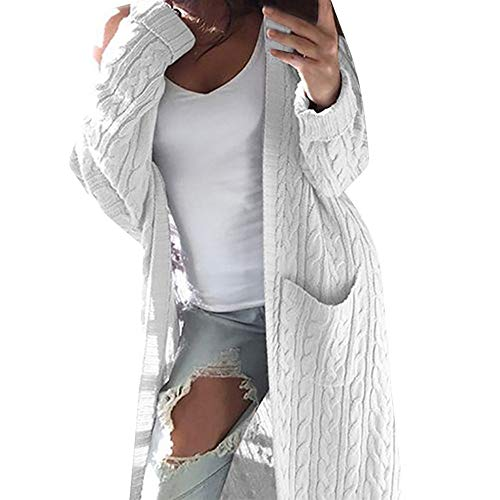 - StyleV-shirts Womens Open Front Chunky Cardigan Autumn Winter Long Sleeve Knitted Sweater Tops