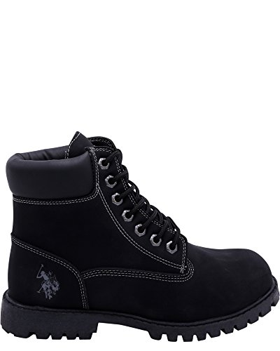 U.S. Polo Assn. Owen High Men's Faux Nubuck Ankle Boots Black Size 13