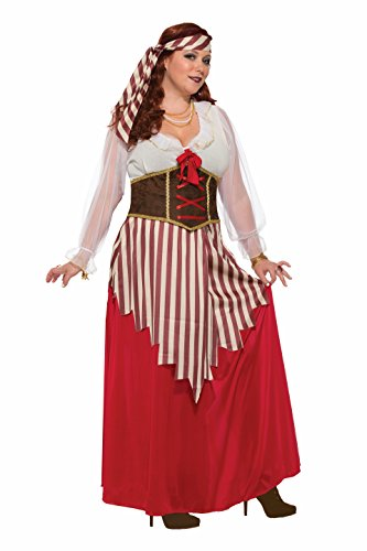 Forum Women's Pirate Wench Costume Dress, As Shown, Plus ()