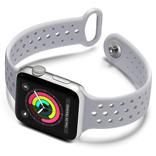 Available Series - KOLEK Sport Bands 38mm 42mm, Soft Silicone Band Women/Men Compatible Apple Watch Series 3/2/1, 10 Colors Available