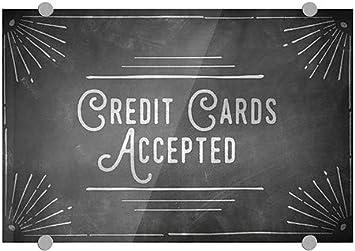 Credit Cards Accepted CGSignLab 36x24 Basic Gray Premium Acrylic Sign