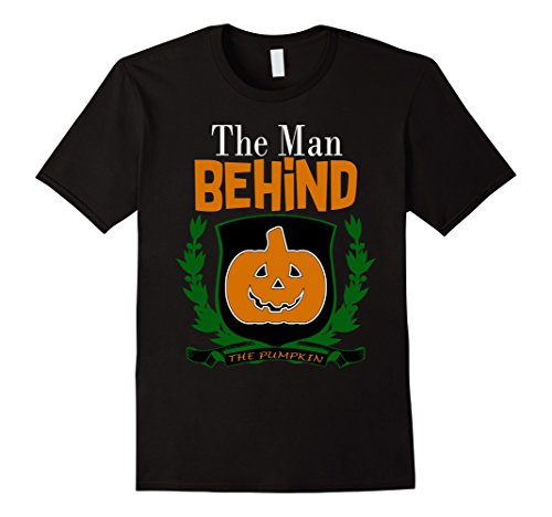 Him And Her Halloween Costumes (Mens Halloween Couple Pregnancy T-Shirt Costume for Him and Her XL Black)
