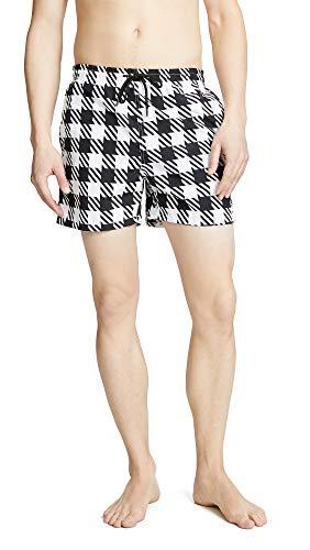 Solid & Striped Men's The Classic Gingham Swim Trunks, Black, Medium