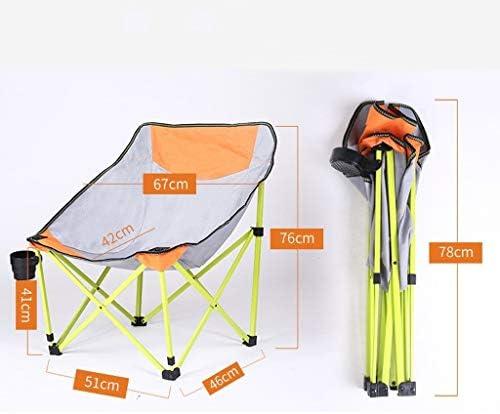 Chaise Longues Chaises De Camping, Pliant Portable Moon Chair De Plein Air Pêche Plage Festival Voyage Siège, 2 Couleurs