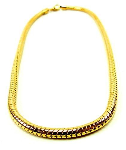 Goldkette gangster  Hip Hop Gangster Goldkette für Herren und Damen GlamChain 5mm Ø ...