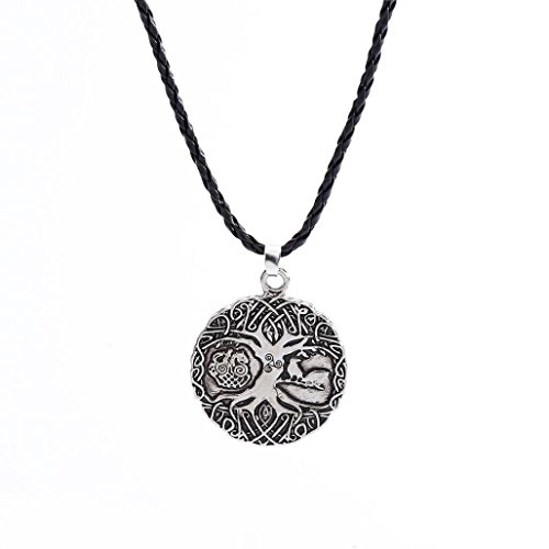 Clearance Norse Viking Amulet The Tree Of Life Rune Pendant Necklace Nordic Talisman Unisex ()