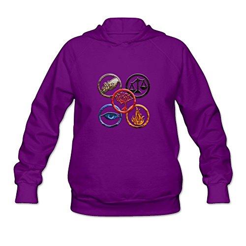 Price comparison product image StaBe Women's Divergent Long Sleeves Hoodies Sweatshirt Purple Size XL