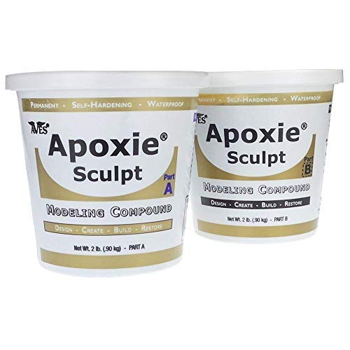 Apoxie Sculpt - 2 Part Modeling Compound (A & B) - 4 Pound, Black