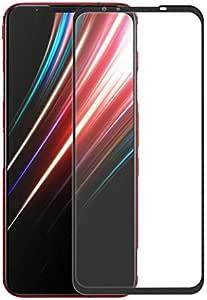 For Nubia Red Magic 5G Full Screen Full Glue Protector Film, Ultra Slim HD 2.5D Tempered Glass Screen Protector -Black