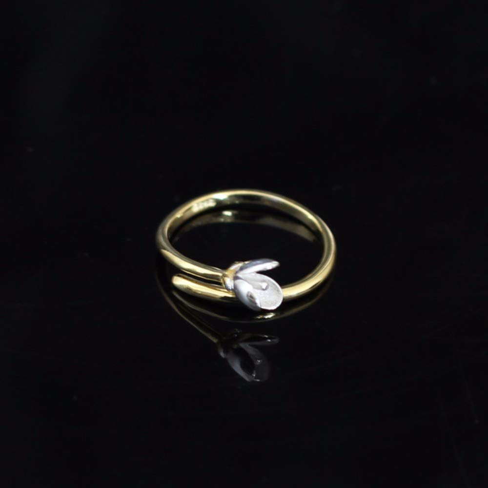 Vintage S925 Silver Ring Womens Simple Opening Fashion Creative Gift Personality Trend