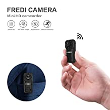 Hidden Camera FREDI 1080P HD Mini Portable Spy Indoor WiFi Security IP Camera with Motion Detection(support 128G SD card)Without SD card