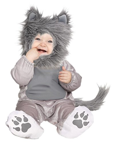 Grey Wolf Cub Toddler Costume - Baby Werewolf Cute! - Small 6-12 Months]()