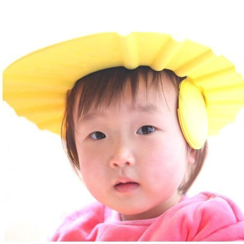 Nac Global Easy Adjustable Safe Soft Bathing Baby Wash Hair for Children Baby Eye Ear Protector Leaves Shape Shower/Shamoo Cap Hat Baby Keep The Water Out of Their Eyes & Face (Multi Color)