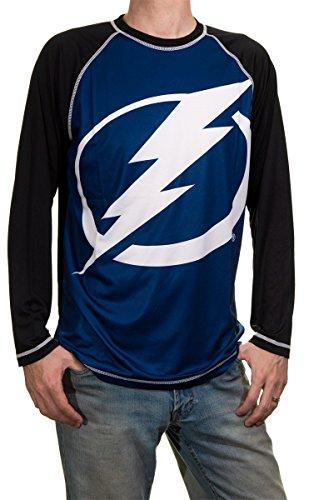 (NHL Mens Performance Long-Sleeve Rash Guard (Tampa Bay Lightning, Medium) )