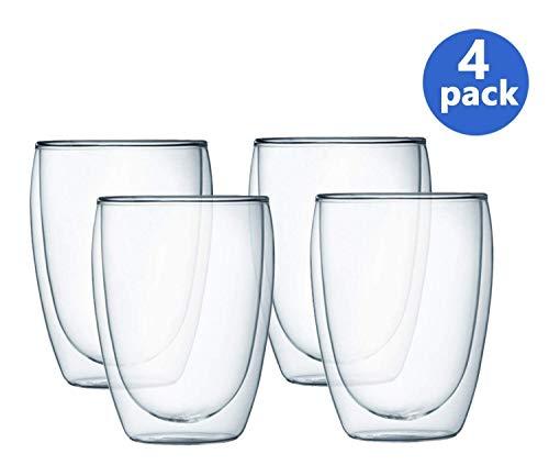 - Bodum Pavina Double Wall Glass, 12-Ounce, Set of 4
