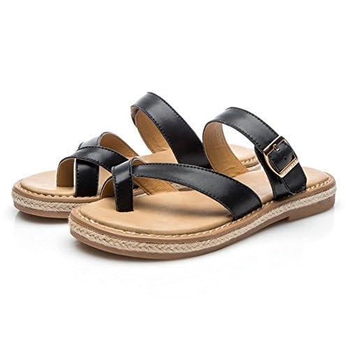 acaf4a37e Durable Modelando sandalias y zapatillas planas de los zapatos de los  estudiantes retro salvaje verano de