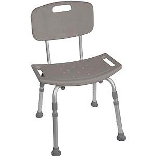 Drive Medical Deluxe K.D. Aluminum Bath Bench with Tool-free Removable Back 19-3/4