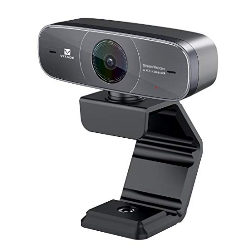 (Mac Webcam, HD 1080P Webcam with Microphone for Streaming, 925A HDR USB Computer Web Camera Pro Video Cam for Mac PC Windows Skype Obs Twitch YouTube Xsplit Xbox One -Tripod included)
