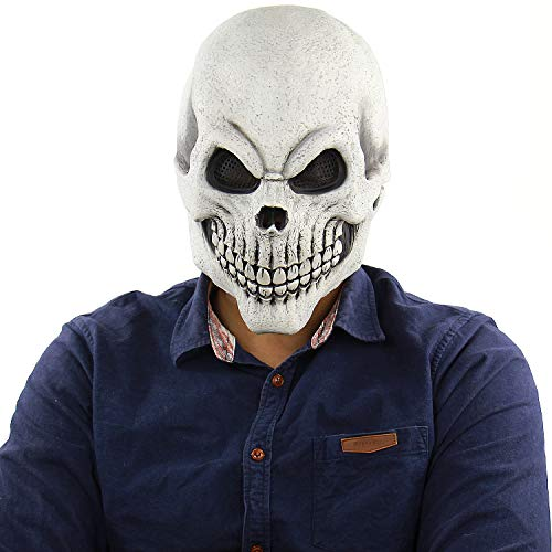Halloween Costumes Stores In Ri (Cosplay Cool Halloween Men's Zombie Skull Mask Latex Costume Horror Props)