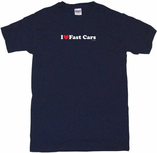 I Heart Love Fast Cars Little Boy's Kids Tee Shirt 4T-Light Blue