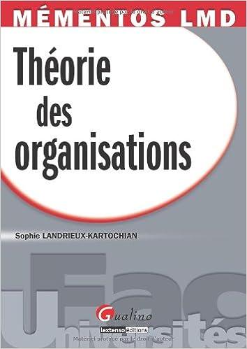 Livre Théorie des organisations pdf