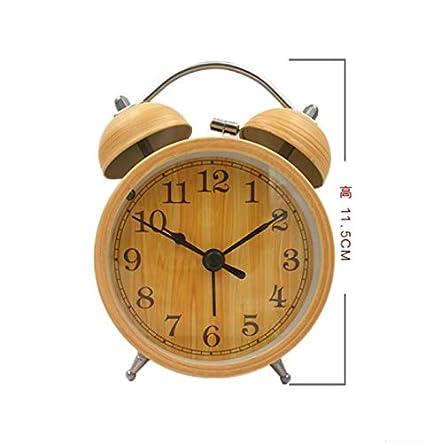 WDDqzf Imitación De Madera Grano Anillo de Metal Reloj Mute ...