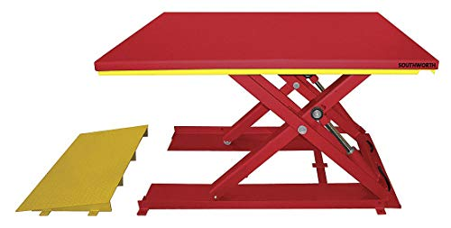 Stationary Electric Lift Scissor Lift Table, 2200 lb. Load Capacity, Lifting Height Max. 31-1/2