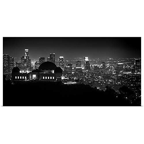 GREATBIGCANVAS Poster Print Entitled View of Los Angeles at Night from The Griffith Park Observatory by Scott Stulberg 60