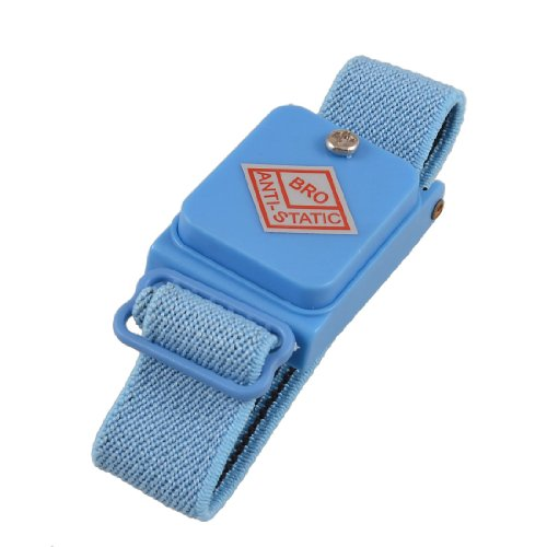 uxcell Blue Wireless Anti Static Cordless ESD Discharge Wrist Band ()