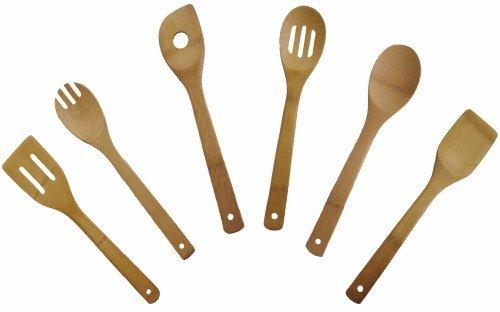 6 Piece 12'' Bamboo Utensil Set