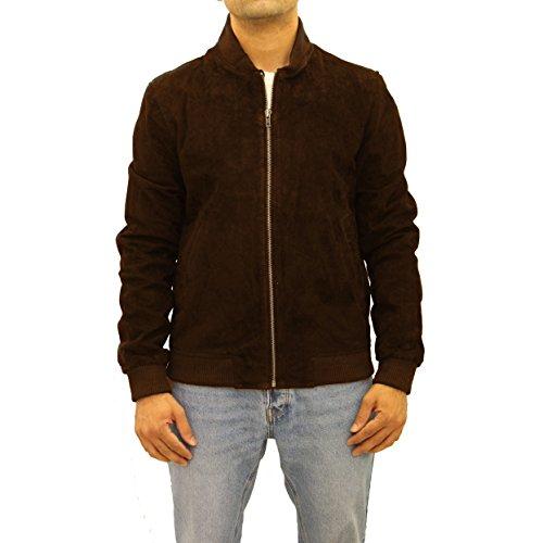 70s 70s 70s marrone marrone marrone marrone Bomber baseball pelle pelle uomo stile Varsity da Letterman scamosciata Jacket stile di 6xgq6U