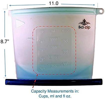 Amazon.com: Ikō-zip - Bolsa de silicona reutilizable para ...