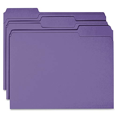(Business Source 1-ply Tab Colored File Folder)