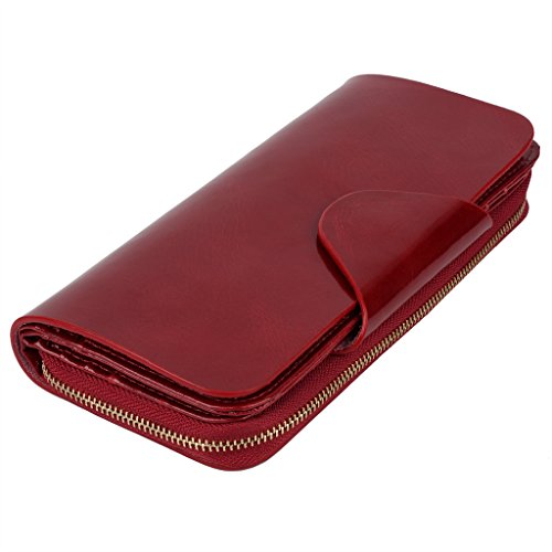 YALUXE Womens Leather Trifold Smartphone