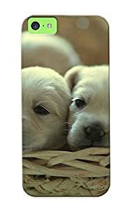 Christmas Day's Gift- New Arrival Cover Case With Nice Design For Iphone 5c- Animals Puppies Baskets wangjiang maoyi