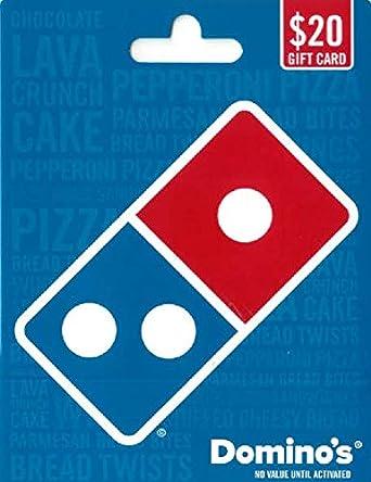 Amazon.com: Tarjeta de regalo de Pizza de Domino.: Tarjetas ...