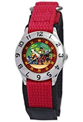 Marvel Kid's MA0103-D2759-RedVelcro Marvel Super Hero Squad Classic Time Teacher Watch