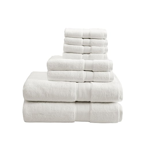 800GSM 100% Cotton Luxury Turkish Bathroom Towels , Highly Absorbent Long Oversized Linen Cotton Bath Towel Set , 8-Piece Include 2 Bath Towels, 2 Hand Towels & 4 Wash Towels , Cream