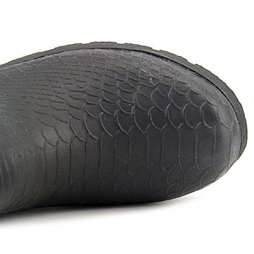 Bearpaw Constance Wellington Black Boots Snake Women's z0wgzqrC