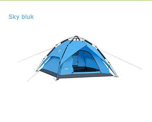 GDSZ Outdoor Tents Automatic Hydraulic Tent Rainproof Camping Tents Double Layer Waterproof 3-4 People Multifunctional Tentsc,Skyblue Fiberglass Pergola